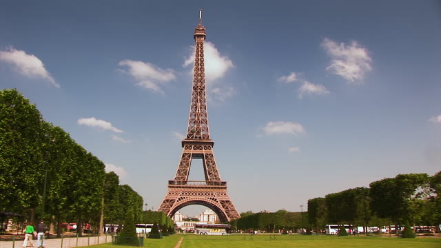 the tour eiffel in paris, france - 2009 stock videos & royalty-free footage