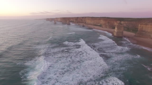 the tourist destination twelve apostles along the great ocean road. - david ewing stock-videos und b-roll-filmmaterial