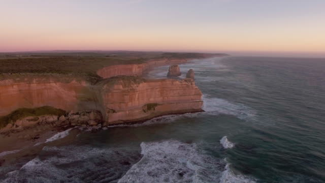 the tourist destination twelve apostles along the great ocean road. - great ocean road stock videos & royalty-free footage