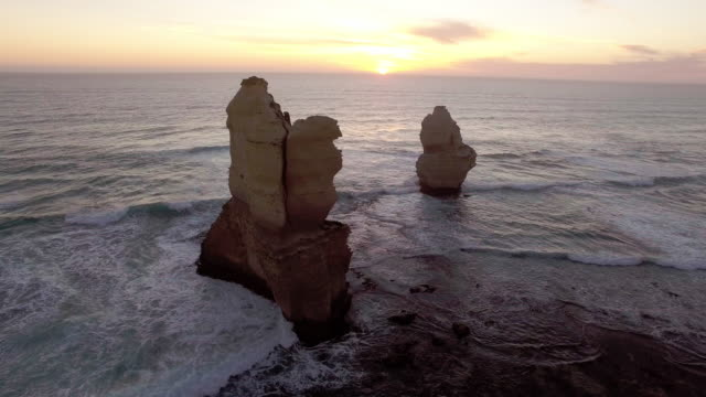 the tourist destination twelve apostles along the great ocean road. - david ewing stock videos & royalty-free footage
