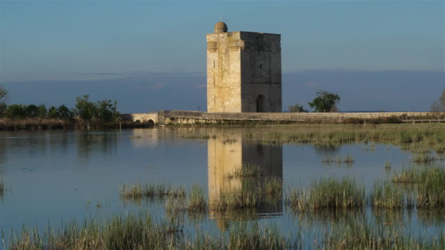 the tower carbonniere, saint larent d'aigouze, gard, france - camargue stock-videos und b-roll-filmmaterial