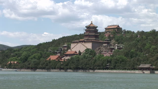 The Tower of Buddhist Fragrance in Summer Palace Beijing China