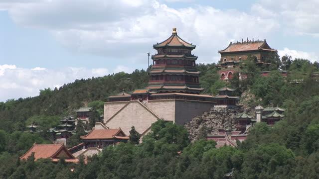 The Tower of Buddhist Fragrance temple in Summer Palace Beijing China