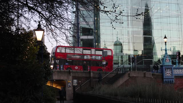 the tower of london and the shard reflected in a glass building on february 10, 2021 in london, england. - glass material stock videos & royalty-free footage