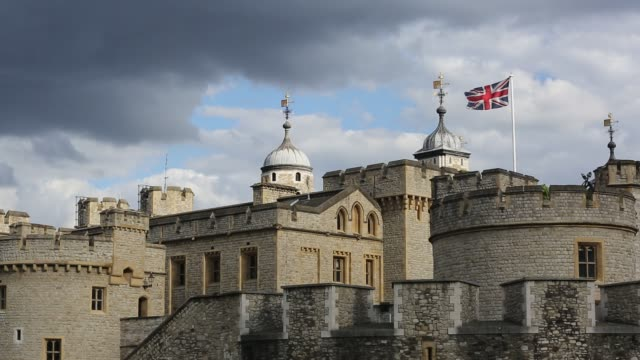 the tower of london, london, uk. - stone object stock videos & royalty-free footage