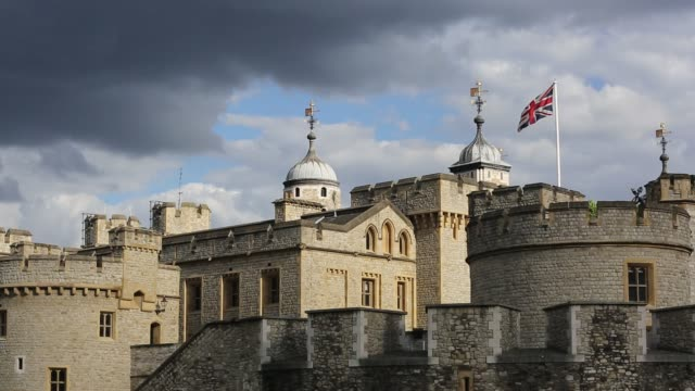 the tower of london, london, uk. - tower of london stock videos & royalty-free footage