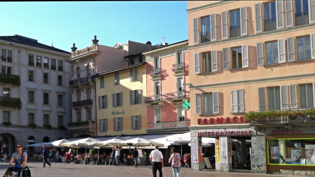 the town of lugano, in the italian part of switzerland. - ticino canton stock videos and b-roll footage