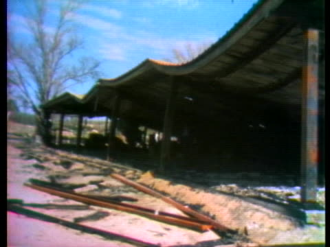 stockvideo's en b-roll-footage met the town of wounded knee, south dakota, suffers damage inflicted by the american indian movement's seizure of the town and the ensuing government... - 1973