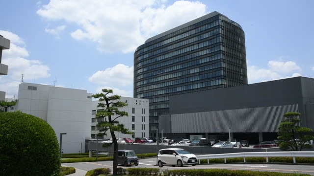 stockvideo's en b-roll-footage met the toyota motor corp headquarters in toyota city aichi prefecture japan on thursday june 13 2019 - toyota motor