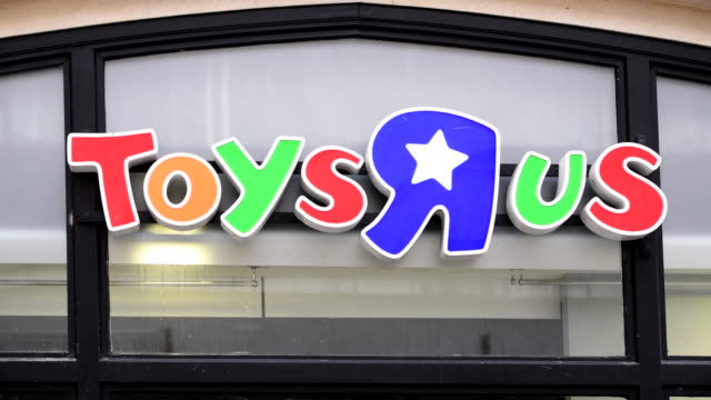 the toys r us store on queen street in cardiff wales uk which is one of 100 to close after the chain retailer failed to find a buyer after going into... - toys r us stock videos and b-roll footage