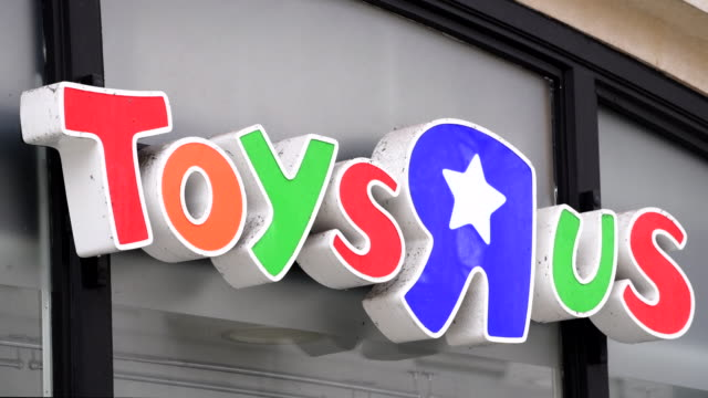 the toys r us store on queen street in cardiff, wales, uk, which is one of 100 to close after the chain retailer failed to find a buyer after going... - toys r us stock videos & royalty-free footage