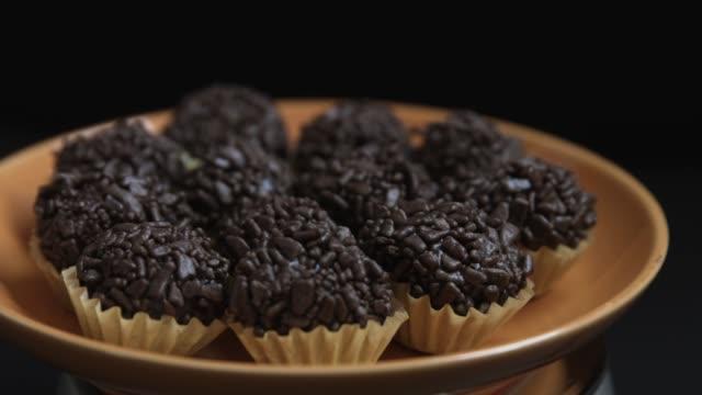 the traditional brazilian dessert brigadeiro - condensed milk stock videos & royalty-free footage