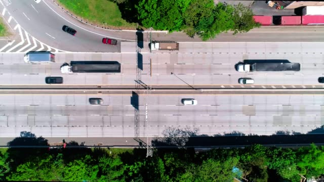 the traffic moving well on the highway - trucks in a row stock videos & royalty-free footage
