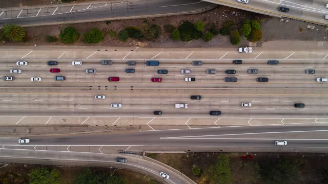 the traffic on a big freeway - interstate 10 stock videos & royalty-free footage