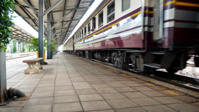 the train is leaving the station.thailand 4k - station stock videos & royalty-free footage