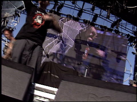 the transplants at the kroq weenie roast at verizon amphitheater in irvine california on june 14 2003 - kroq weenie roast stock videos & royalty-free footage