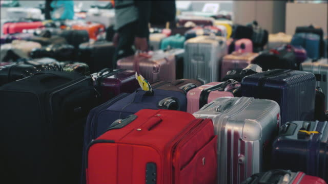 the traveler's suitcase - baggage claim stock videos and b-roll footage