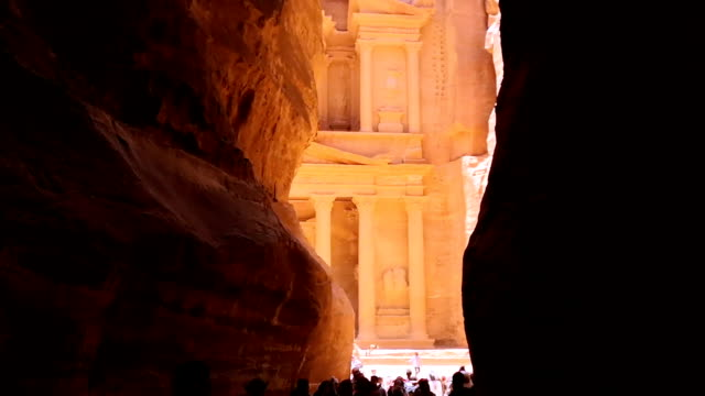 the treasury of petra ancient city, jordan - mid section stock videos & royalty-free footage
