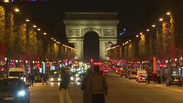 FRA: Paris launchs the Christmas season lights on the Champs Elysees