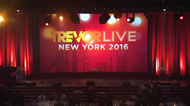 atmosphere the trevor project's trevorlive new york at marriott marquis hotel on june 13 2016 in new york city - marriott marquis new york stock videos & royalty-free footage