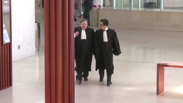 the trial of a french policeman on a homicide charge opens six years after the collision of his vehicle killed two youths sparking suburban riots... - legal trial stock videos & royalty-free footage