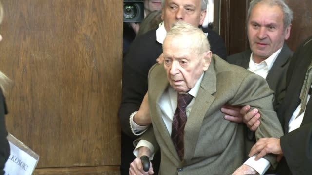 the trial of hungarian nazi war crime suspect sandor kepiro has thrown a spotlight on hungary's murky past and its collaboration with nazi germany... - war crimes trial stock videos and b-roll footage