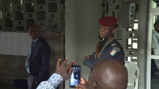 The trial of Moses Lida Kouassi an ex minister of former Ivorian president Laurent Gbagbo and his three co accused of conspiracy against state...