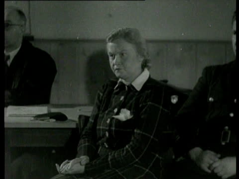 the trial of war criminal ilse koch koch was the commander of the concentration camp buchenwald she is accused of mass killing and severe assault - buchenwald concentration camp stock videos & royalty-free footage