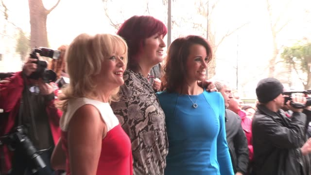 the tric awards 2012 arrivals sherrie hewson janet streetporter andrea mclean at grosvenor house on march 13 2012 in london england - janet street porter video stock e b–roll