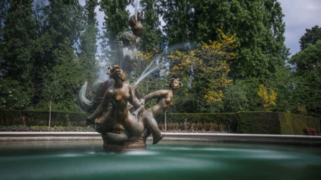 The Triton and Dryads fountain in the Queen Mary's Garden Regent's Park