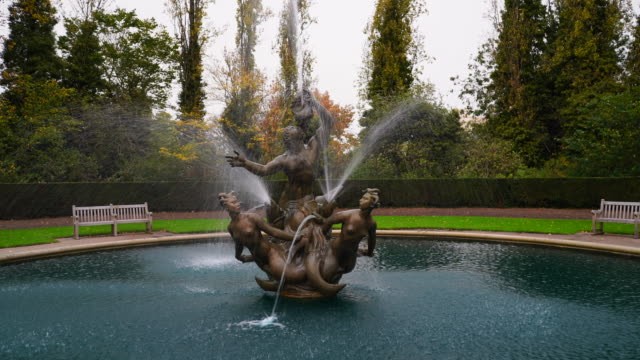 the triton fountain in regents park. - fountain stock videos & royalty-free footage