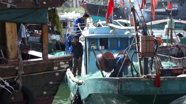 the tropical waters of the south china sea are among the most contested on earth but chinese fishermen who sail in it shrug off the dangers of... - south china sea stock videos & royalty-free footage