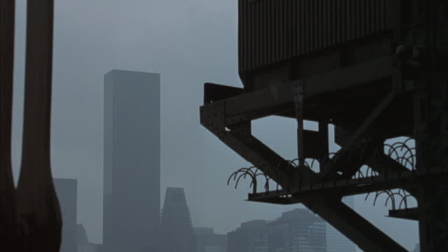 The Trump World Tower in New York City appears through the fog.