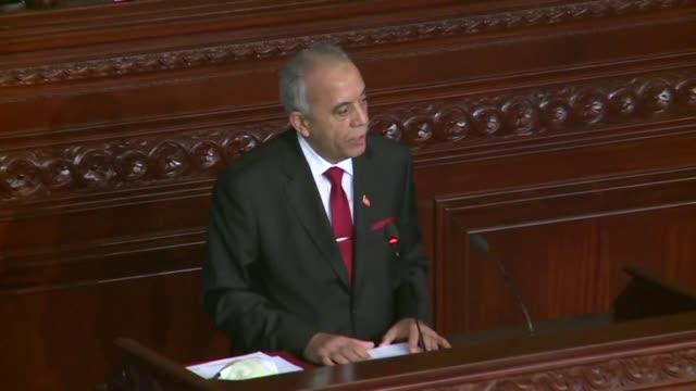 the tunisian parliament prepares to vote on the government of prime minister designate habib jemli - prime minister video stock e b–roll