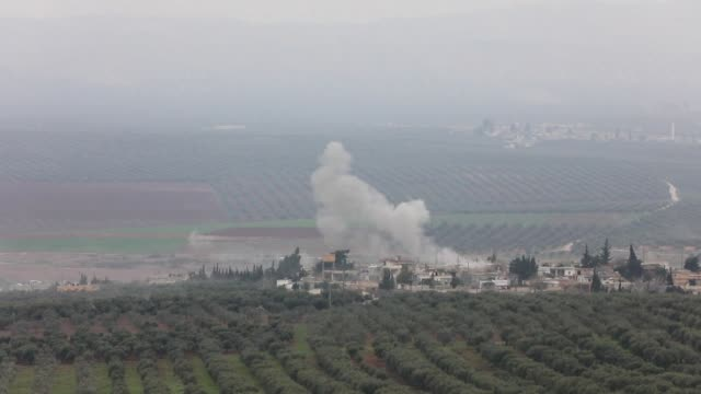the turkish army and syrian rebels continue their military operation against the kurdish people's protection units in the afrin region of northern... - people's protection units stock videos & royalty-free footage