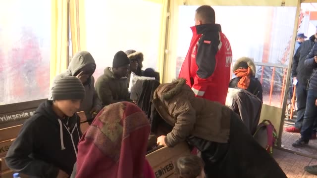 the turkish coast guard on thursday rescued 68 migrants stranded on a small rocky islet in the aegean sea the migrants including women and children... - izmir stock videos & royalty-free footage