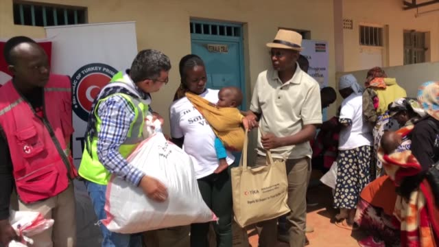 the turkish cooperation and coordination agency has given aid packages to flood victims in nakuru state. interviews with karol incemyatic john muangi... - victim stock videos & royalty-free footage
