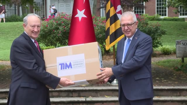 the turkish exporters' assembly has donated 100,000 medical face masks to the us state of maryland to help it fight the coronavirus pandemic.... - maryland us state stock videos & royalty-free footage