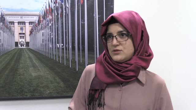 the turkish fiancee of murdered saudi journalist and dissident jamal khashoggi insists in an emotional interview that washington has the moral... - fiancé stock videos & royalty-free footage