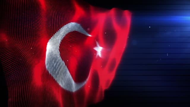 The Turkish Flag - Background Loop (Full HD)
