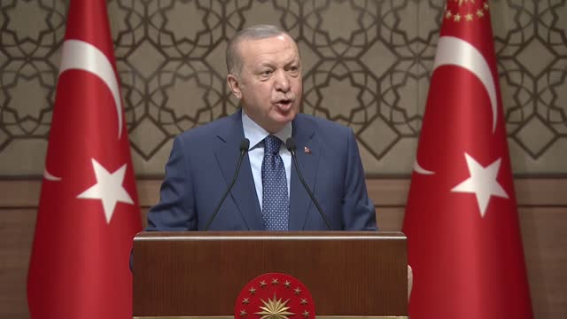 the turkish leader on thursday, march 18, called for a unity among citizens, saying that the national anthem explains why they should protect the... - allied forces stock videos & royalty-free footage