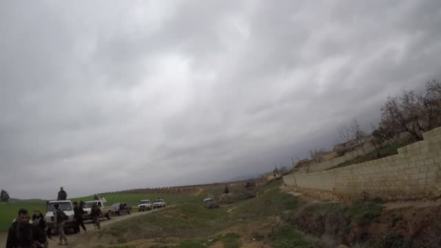 the turkish military and free syrian army on wednesday liberated uverkan village in northwestern syria from the control of ypg/pkk-daesh terrorists.... - isil konflikt stock-videos und b-roll-filmmaterial