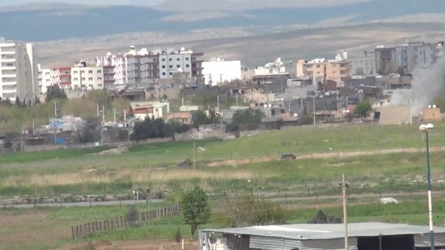 the turkish military operation against pkk that started march 14 was still ongoing in nusaybin on wednesday on the frontier with syria and according... - kurdistan workers party stock videos & royalty-free footage