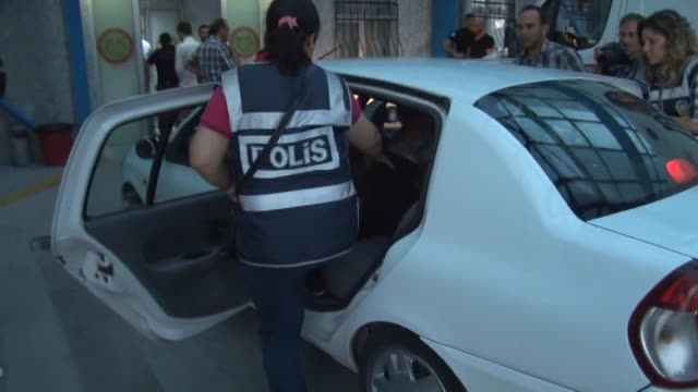 the turkish police department's antiterrorism unit detain 16 suspects during an antiterror operation targeting daesh in konya turkey on july 27 2015 - konya stock videos and b-roll footage