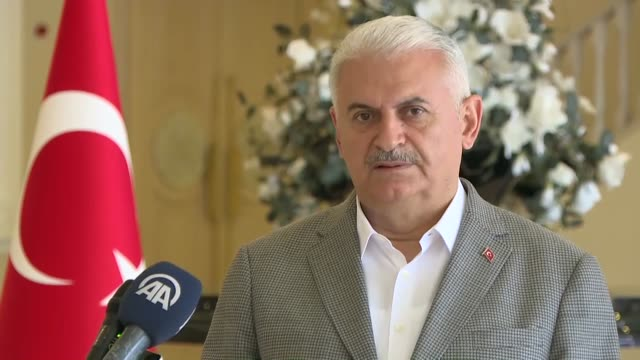 stockvideo's en b-roll-footage met the turkish prime minister said on saturday that the government is taking foolproof security measures during elections. speaking to anadolu agency in... - politics and government