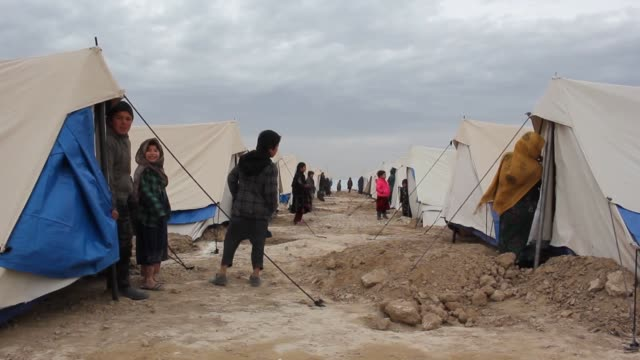 The Turkiye Diyanet Foundation opens refugee camp in Balkh province of northern Afghanistan on January 18 2019 TDV a charity group linked to Turkey's...