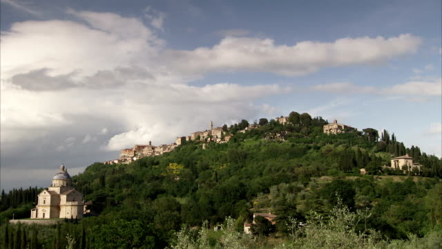 the tuscan town of montepulciano includes the san biagio church. available in hd. - montepulciano stock videos & royalty-free footage