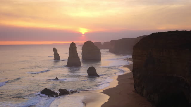 the twelve apostles, great ocean road, victoria in australia - melbourne australia stock videos & royalty-free footage