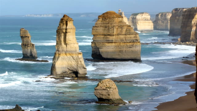 the twelve apostles, victoria australia - eroded stock videos & royalty-free footage
