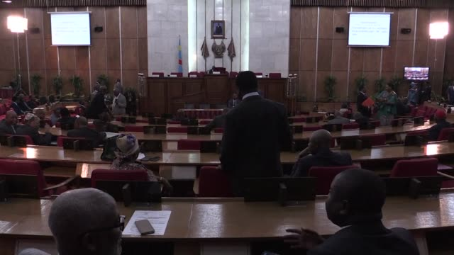 vídeos de stock, filmes e b-roll de the two houses of the democratic republic of congo's legislature on wednesday were called to an extraordinary session to examine a law on the status... - ex
